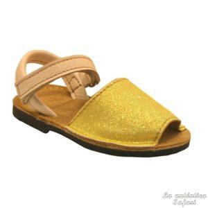 Sandalias Ibicencas Glitter con Velcro